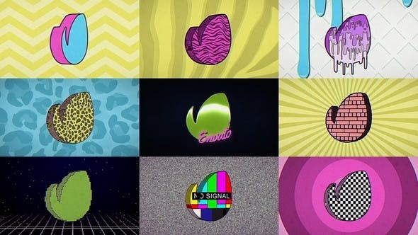 Videohive 80s Retro TV Logo 22884073