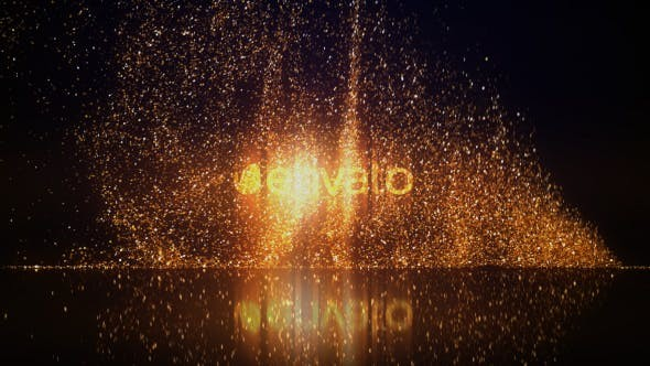 Videohive Gold Glitters Logo Reveal 21373742