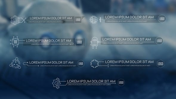 Videohive Science & Technology Lower Thirds Pack 23599580