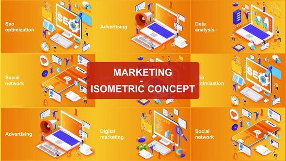 Videohive Marketing - Isometric Concept 23624202