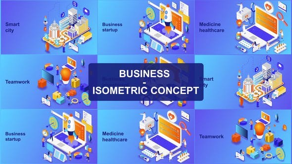 Videohive Business - Isometric Concept 23623967