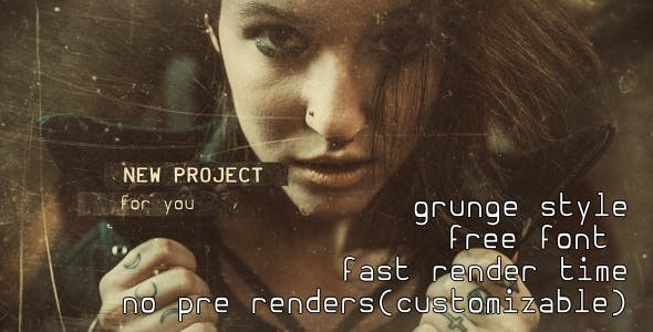Videohive Grunge Slides - Cinematic Trailer 21394307