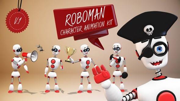 Videohive Roboman - Character Animation Kit 22586843