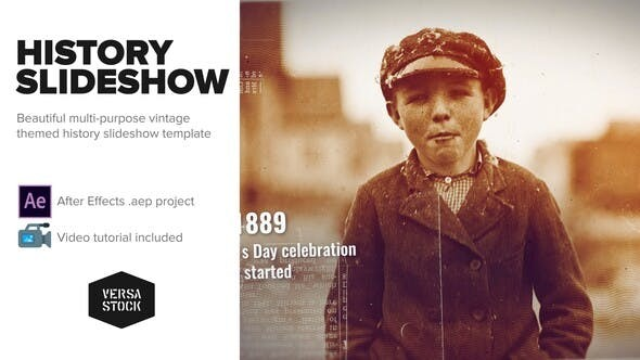Videohive Burned History Frames Slideshow 23600970