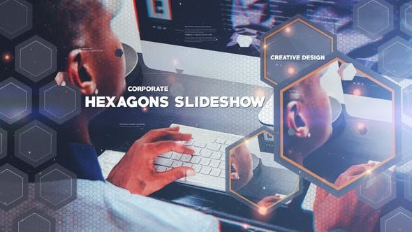 Videohive Hexagon Slideshow 23120374