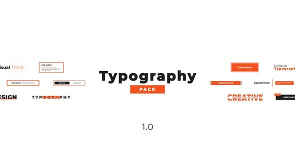 Videohive Creative Typography Pack - for Premiere Pro 23065011