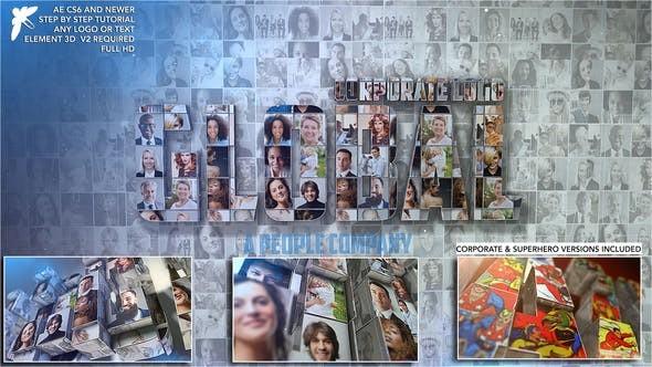 Videohive Corporate Mosaic Logo 23392349