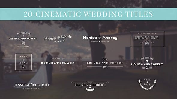 Videohive Wedding Titles 18201208