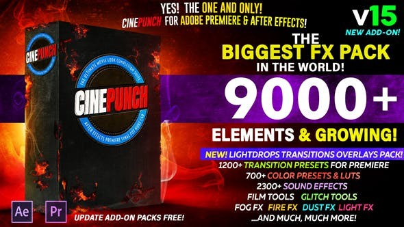 Videohive CINEPUNCH V.15- The Biggest FX Pack in the World! 20601772