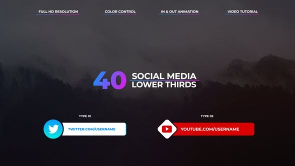 Videohive Social Media Lower Thirds 23165554