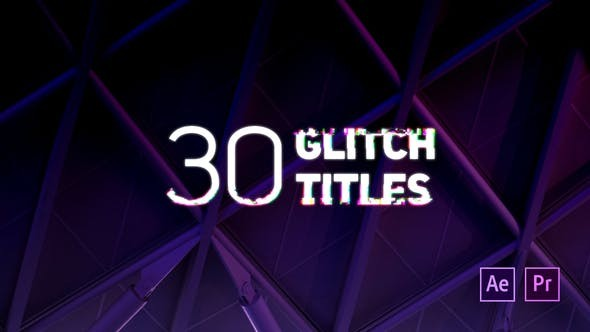 Videohive Glitch Titles 22500592