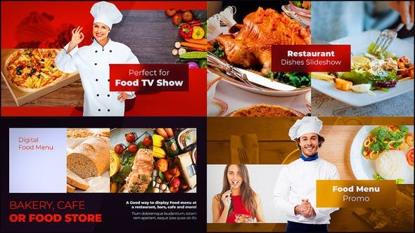 Videohive Food Slideshow 23084172