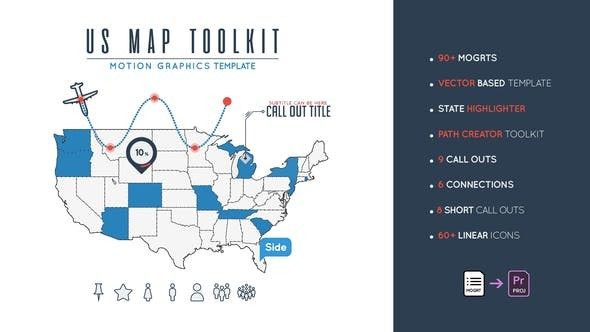 Videohive Us Map Toolkit 23670313