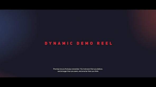 Videohive Dynamic Demo Reel 21661659