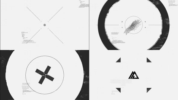 Videohive Black White Glitch Logo 21017561