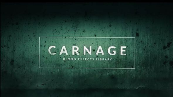 RocketStock - RS3023 - Carnage: 296 Blood Video Effects for Gory & Horror Scenes