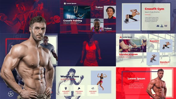 Videohive Sport Club - Crossfit Fitness Gym 23641288