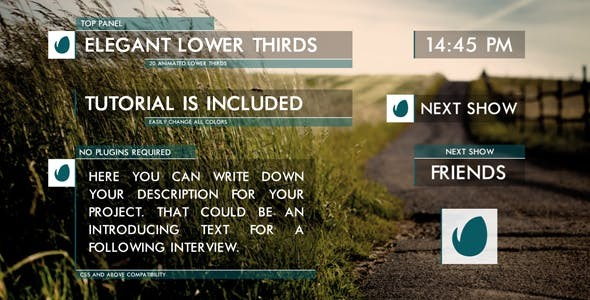 Videohive Clean Lower Thirds 9742397 - After Effects Project
