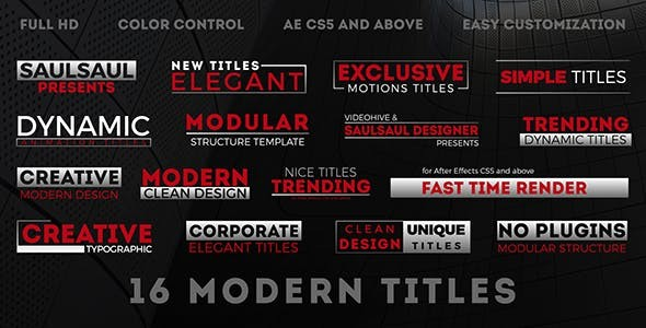 Videohive Modern Titles 20607281 - After Effects Project
