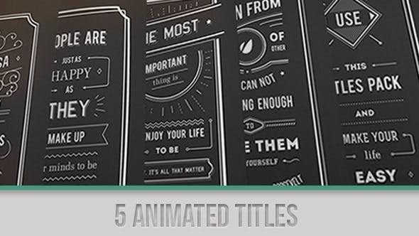 Videohive Titles Collection 5135631 - After Effects Project