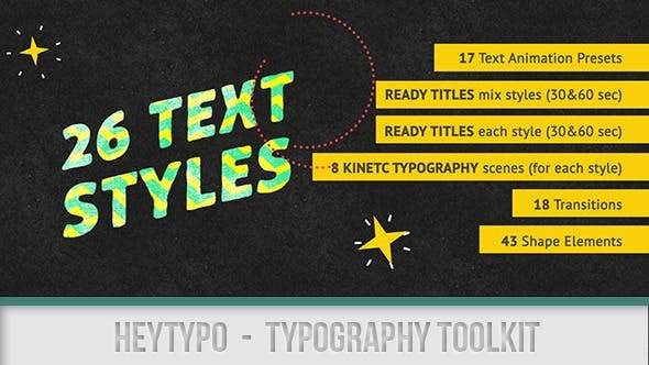 Videohive Heytypo // Typography Toolkit 7588486 - After Effects Project