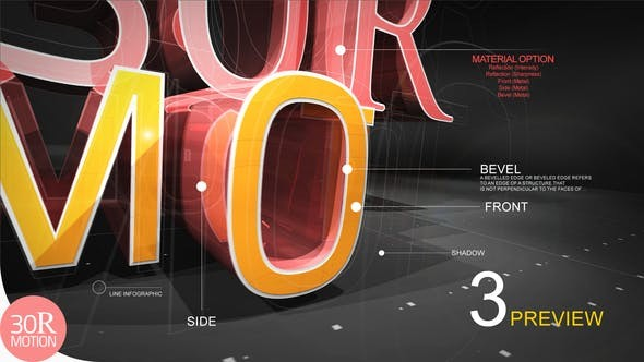 Videohive 3D Text Reveal - After Effects Project