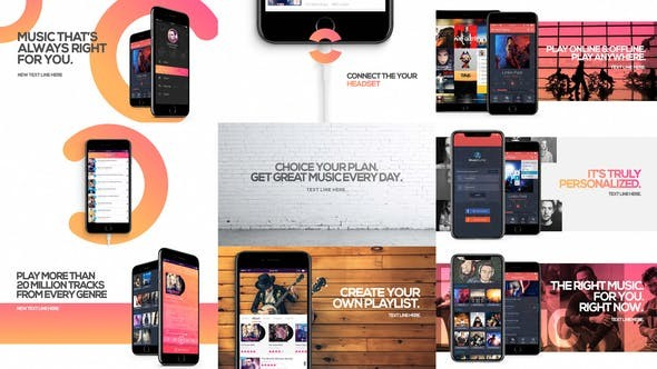 Videohive Music App Promo - After Effects Project