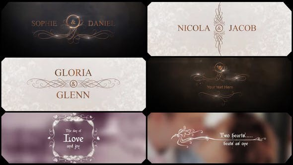 Videohive Glamour Wedding Titles - After Effects Template