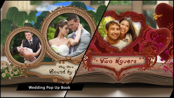 Videohive Wedding Album Pop up Book - After Effects Template
