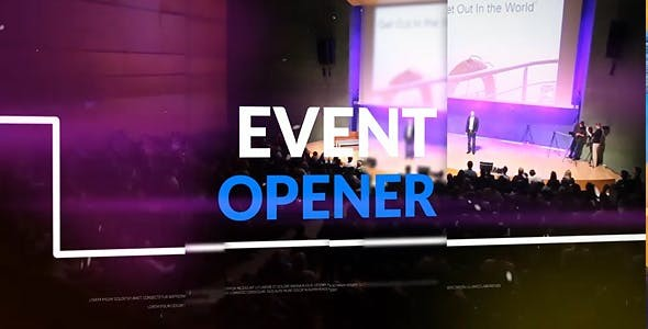 Videohive Event Opener - After Effects Template