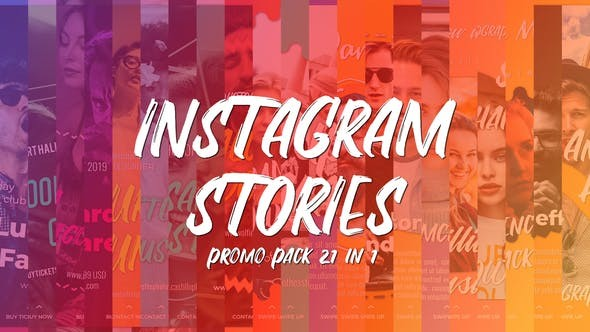 Videohive Instagram Stories Promo Pack 21 in 1 - After Effects Template