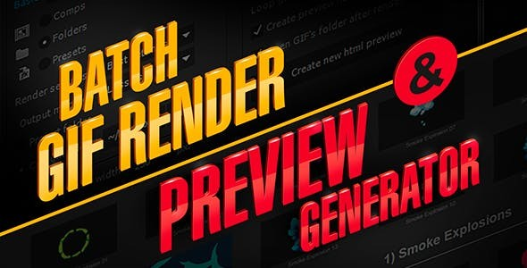 Videohive aw_PreviewGenerator | After Effects Script 14081377 - After Effects Template