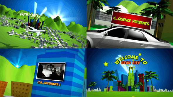 Videohive  Cartoon Star City - After Effects Template