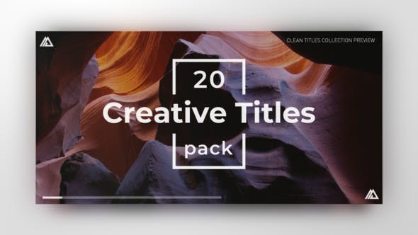 Videohive Simple Minimal Titles - After Effects Template
