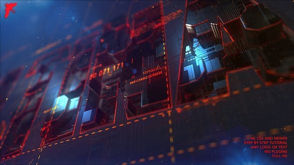 Videohive  Transforming Element3D Logo - After Effects Template