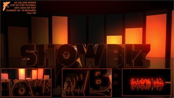 Videohive Showbiz Element Logo - After Effects Template