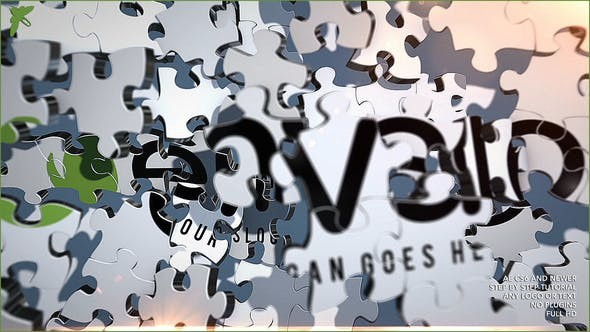 Videohive Puzzle Logo - After Effects Template