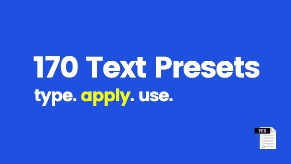 Videohive 170 Text Presets - After Effects Template