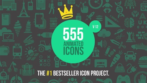 Videohive  Videohive 555 Animated Icons V12 - After Effects Template