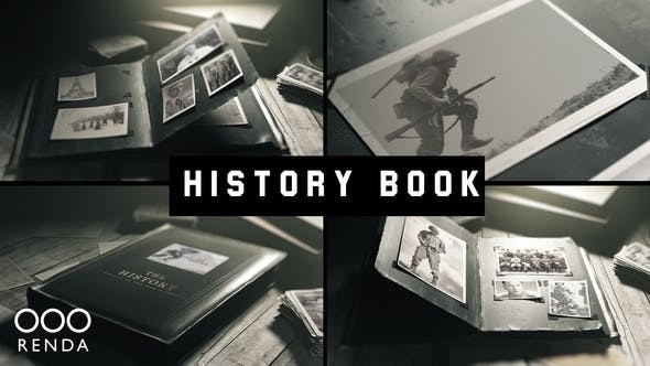 Videohive Old Book History Album 24946550 - After Effects Project Files