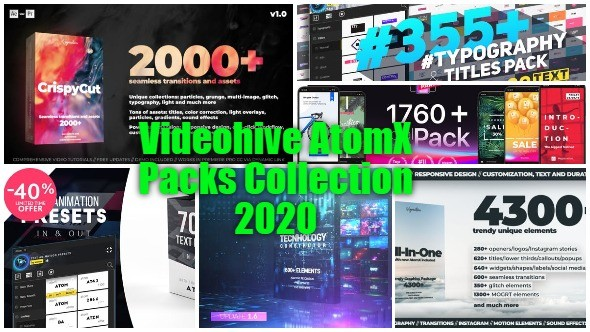 Videohive AtomX Packs Collection 2020