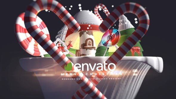Videohive 3d Cartoon Christmas Logo 29348492 - After Effects Project Files