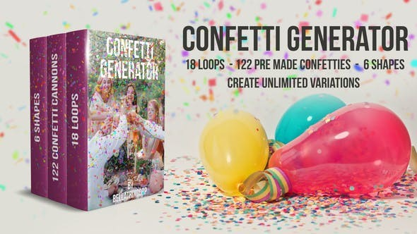 Videohive Confetti Generator Bundle 21668805 - After Effects Project Files