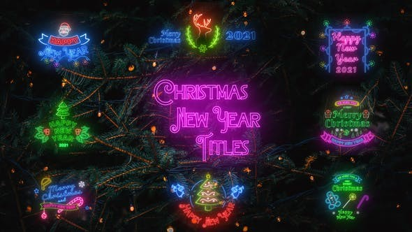 Videohive Christmas & New Year Titles 29677771 - After Effects Project Files