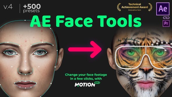 Videohive AE Face Tools V4.1 24958166 - After Effects Project Files