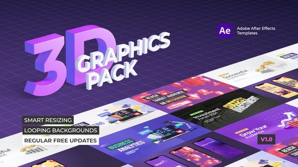 Videohive 3D Graphics Pack 28796086 - After Effects Project Files