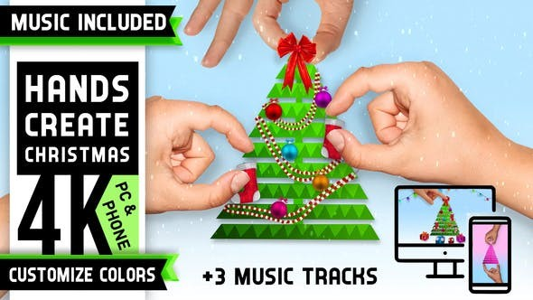 Videohive Minimal Christmas Tree Logo 29633166 - After Effects Project Files