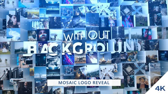 Videohive Mosaic Logo Reveal 24704296 - After Effects Project Files