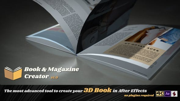 Videohive Book And Magazine Creator 23014927 - After Effects Project Files