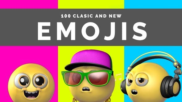 Videohive 100 Classic And New Emojis 29840105 - Motion Graphics
